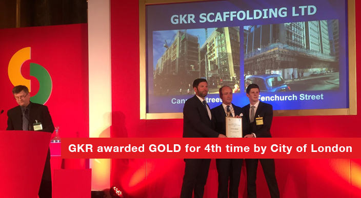 GKR awarded GOLD 2016 by the Considerate Contractors Scheme